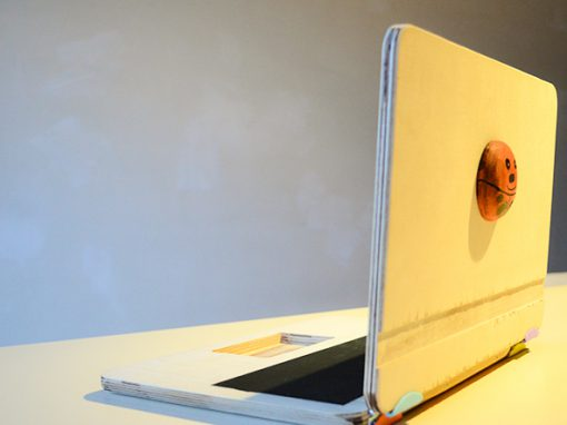 Wooden laptop